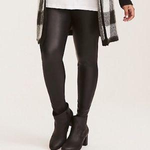 Torrid Black faux leather leggings size 0